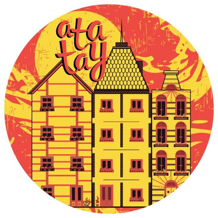 Город в красно-желтых тонах. Город в моей голове. В окнах огни не горят. Город на дне.🌇#by_atatay