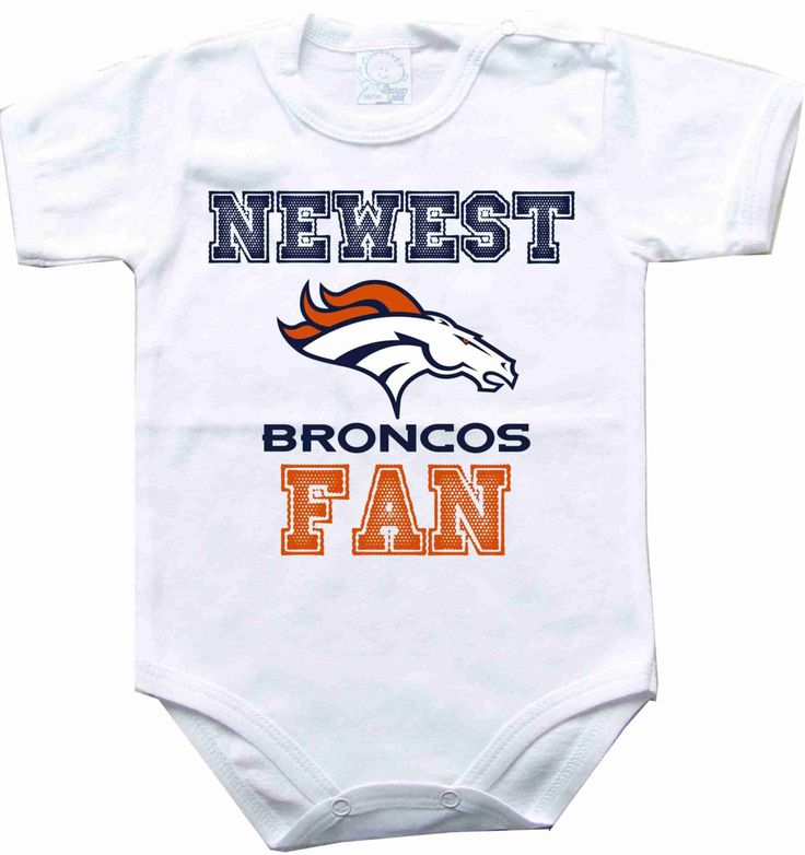 Baby bodysuit Newest fan Denver Broncos football by rockbabysuit, $10.98
