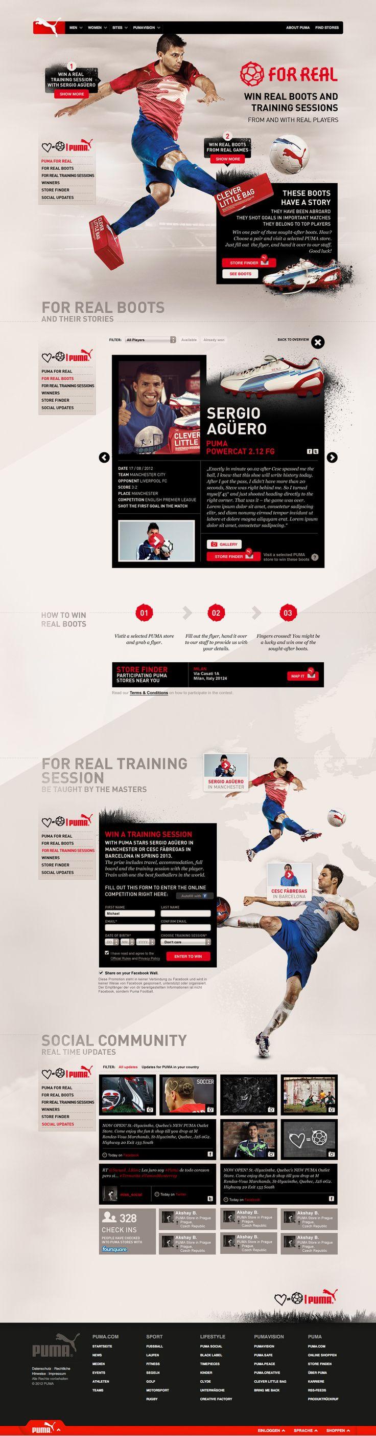 Unique Web Design, Puma #webdesign #design (http://www.pinterest.com/aldenchong/)