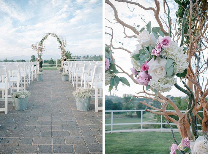 Rustic ceremony wedding arch