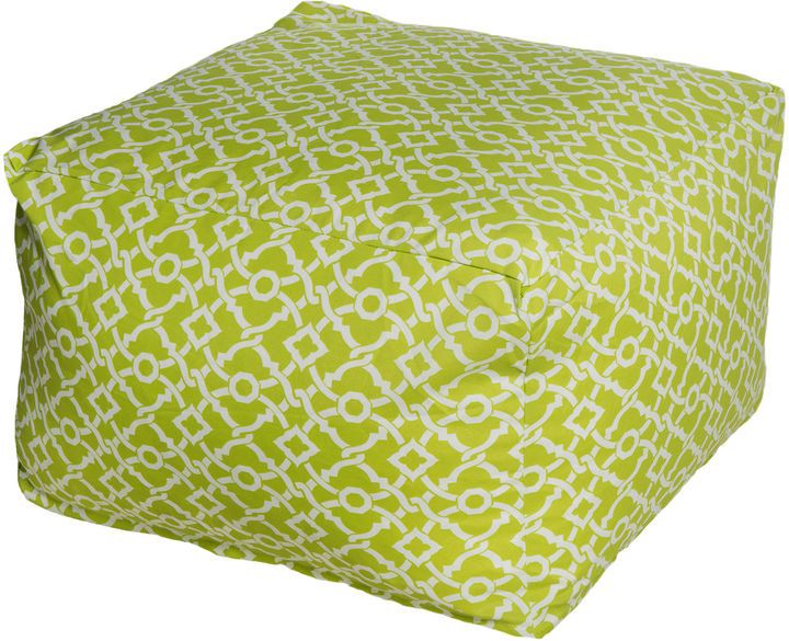 A Moroccan-inspired print lends this classic cube ottoman a life and style all of its own. Use it as a traditional seat or ottoman, or top with a tray and use as a cocktail table. Furniture > Outdoor Furniture > Outdoor Ottomans.