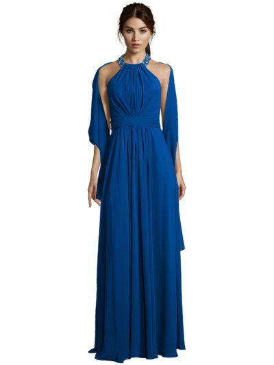 Luxuar - Abendkleid mit Ziersteinbesatz Royalblau - Fulllengthfront1 FULLLENGTHFRONT2