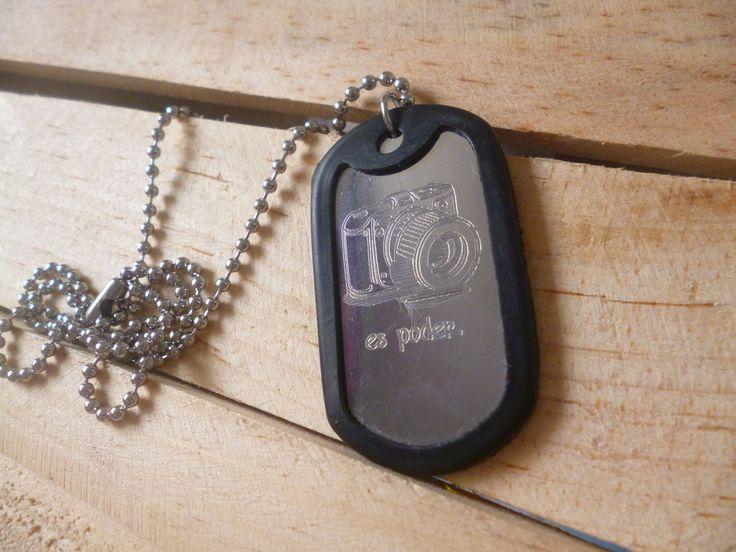 Collar placa estilo militar con grabado personalizado. COLOMBIA WSP 321 986 48 38