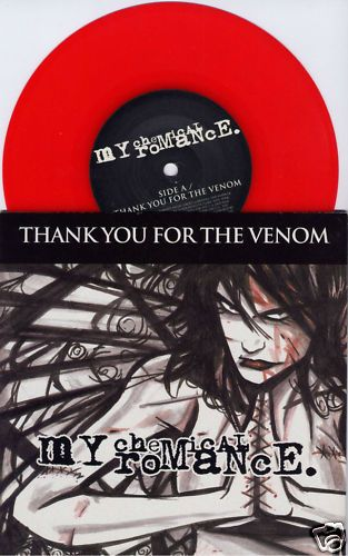 "My Chemical Romance Thank You for The Venom UK Red Vinyl 7"" New UNPLAYED 