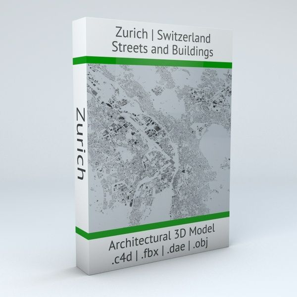 Zurich Streets and Buildings Architectural 3D Model