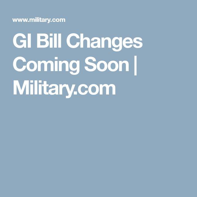 GI Bill Changes Coming Soon | Military.com