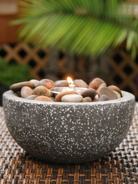 Attractive Tabletop Fire Bowl | Deeco Rock Stone Tabletop Gel Fire Bowl   DM 008 FB |  Home | Pinterest | Tabletop, Stone And Rock
