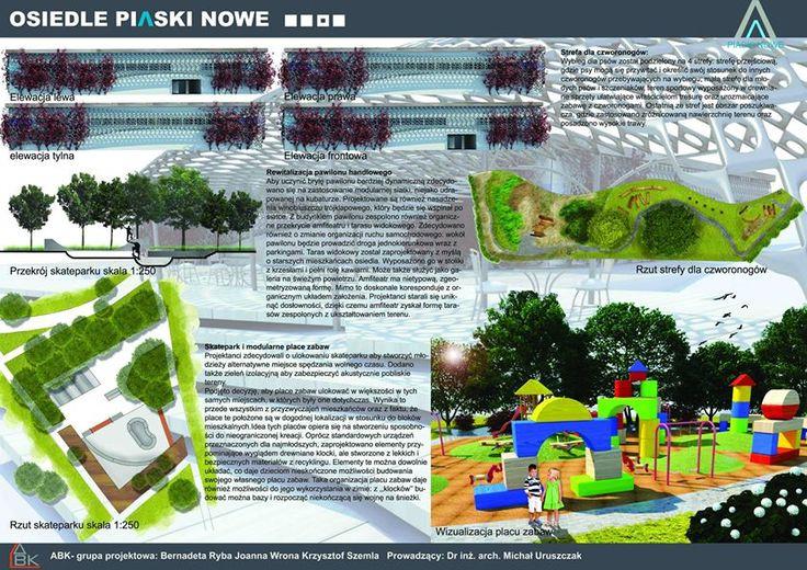 Housing estate rev.- children playground, skate park