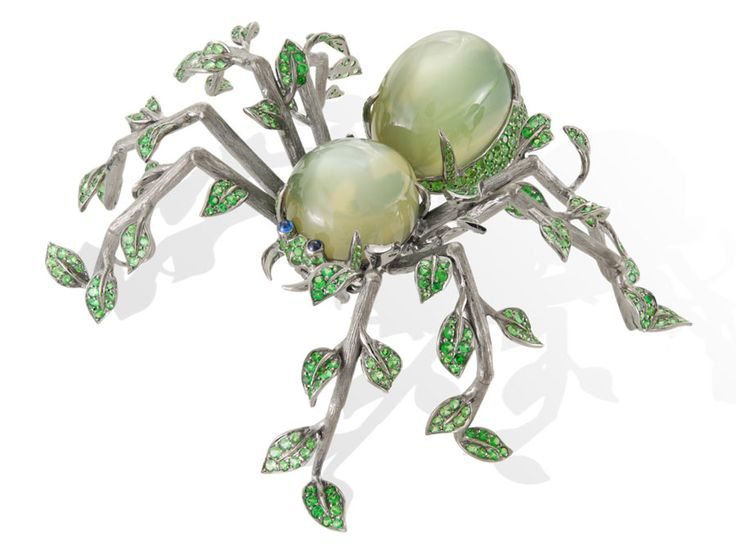 Lydia Courteille, spider brooch, from the Homage to Surrealism Collection.