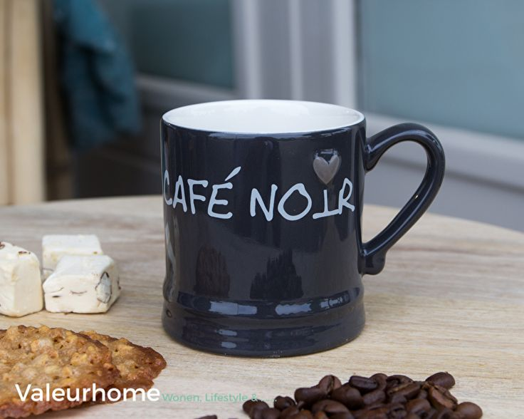 Bastion Mug Small Lood Cafe Noir in White | Bastion Collections | Valeurhome