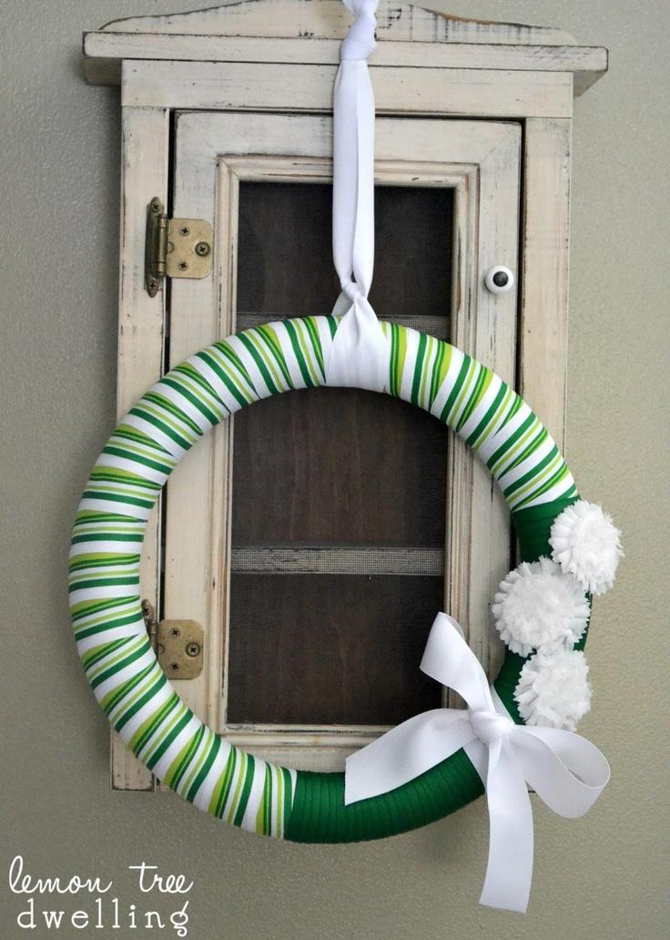 St. Patrick's Day Striped Wreath
