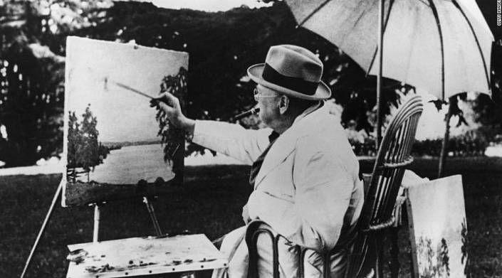 Скромный художник Уинстон Черчилль