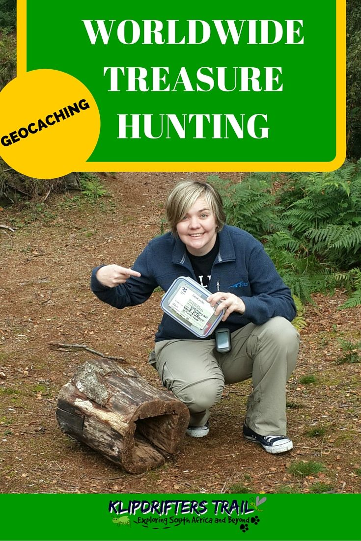 GEOCACHING A worldwide treasure hunt that anyone can play.  Find out how it works and where to find your firrst treasure here: http://www.klipdrifters.com/geocaching/  #geocaching #treasure #hiking #outdoors #cache #travel