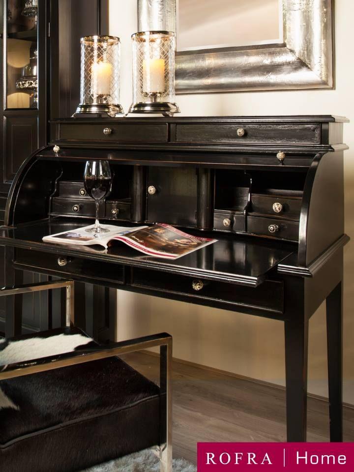 Stijlvol klassiek bureau in combinatie met karaktervolle stoel maken dit een heerlijke plek in huis | Rofra Home