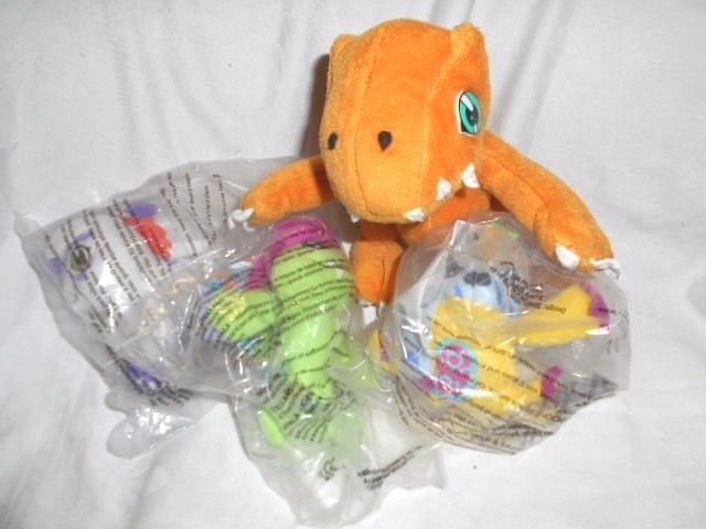 Digimon - 4 Character soft toys #PlaybyPlayMcDonalds