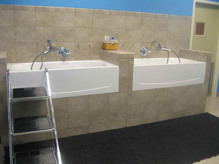 I like the tiling, but a single tub with built in stairs down the side?