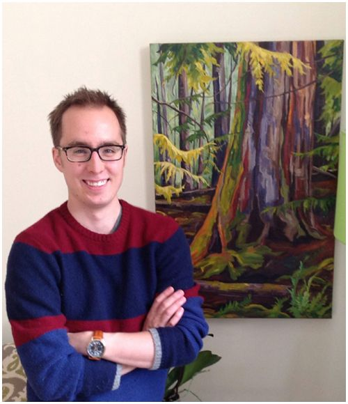 """Mathieu Doucette with """"Old Growth at Kootenay Lake"""", Montreal, Que."""
