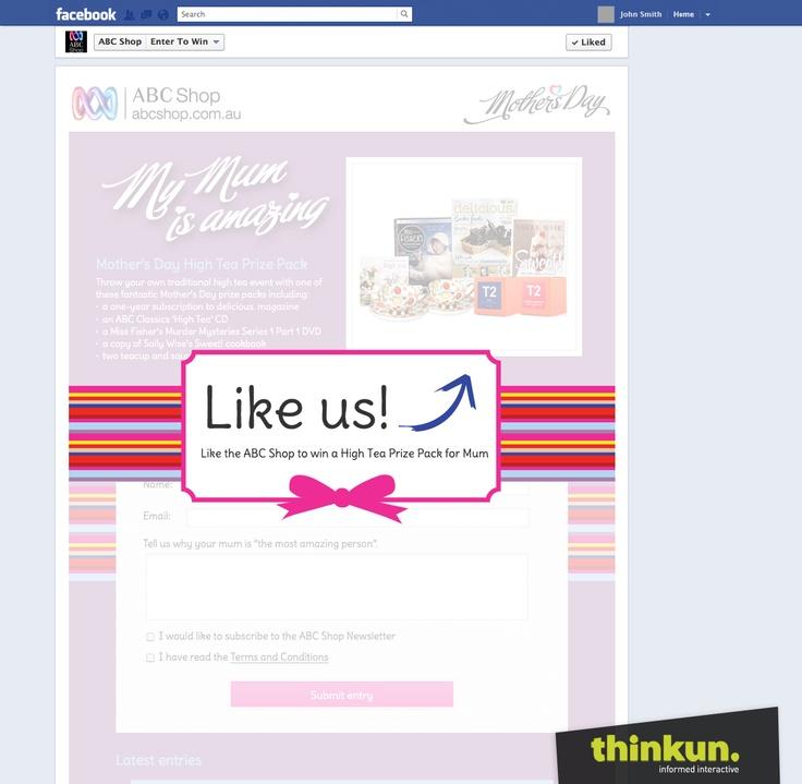 ABC shop Facebook competition