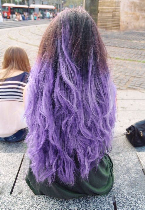 Image Result For Straight Brown To Light Purple Hair Purple Hair Hair Dye Tips Hair Tips Dyed Purple