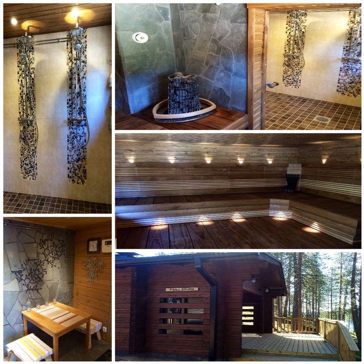 Our new, refurbished lakeside sauna!