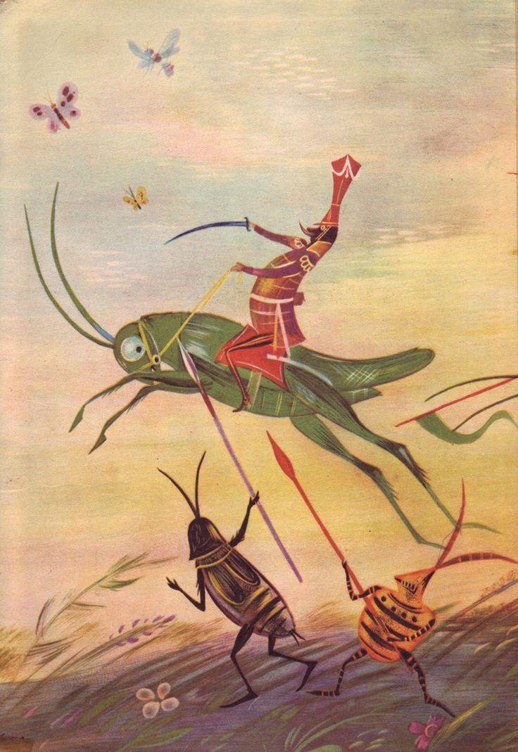 Illustrations by J. M. Szancer for Jan Brzechwa's Za Krola Jelonka.