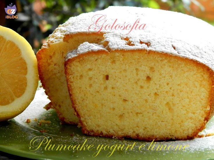 Plumcake allo yogurt e limone-ricetta dolci-golosofia