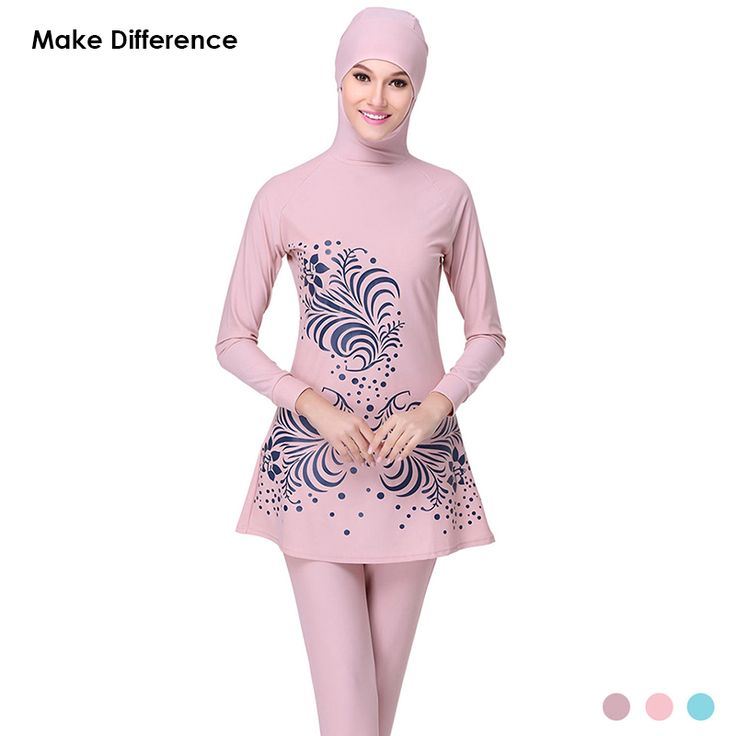Make Difference Hajib Muslim Swimsuit Plus Size Islamic Swim Wear Full Cover Long Modest Swimwear Burkinis for Muslim Girl Women Quran * AliExpress Affiliate's Pin.  Find out more by clicking the image