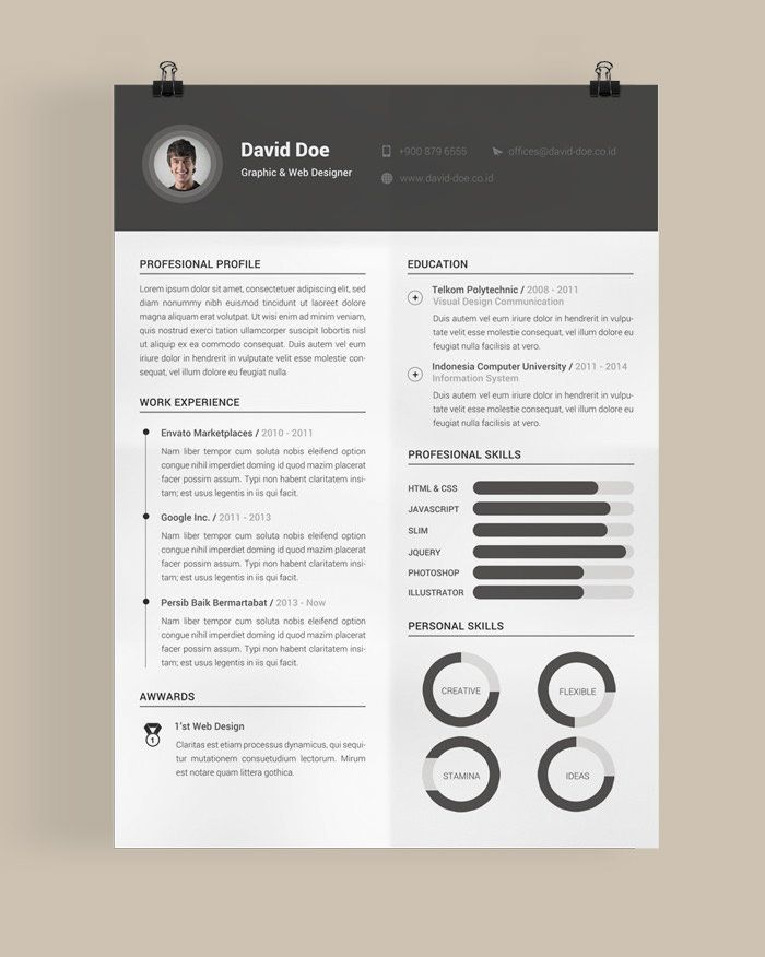 27 best curriculum vitae images on pinterest cv template resume you probably have seen the professional looking eye catching resumes that talented web designers have been designing and showcasing online yelopaper Image collections