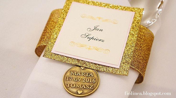 Fiolinea - Ślubna Galanteria Papiernicza: Królewski ślub w Pałacu Krotoszyce