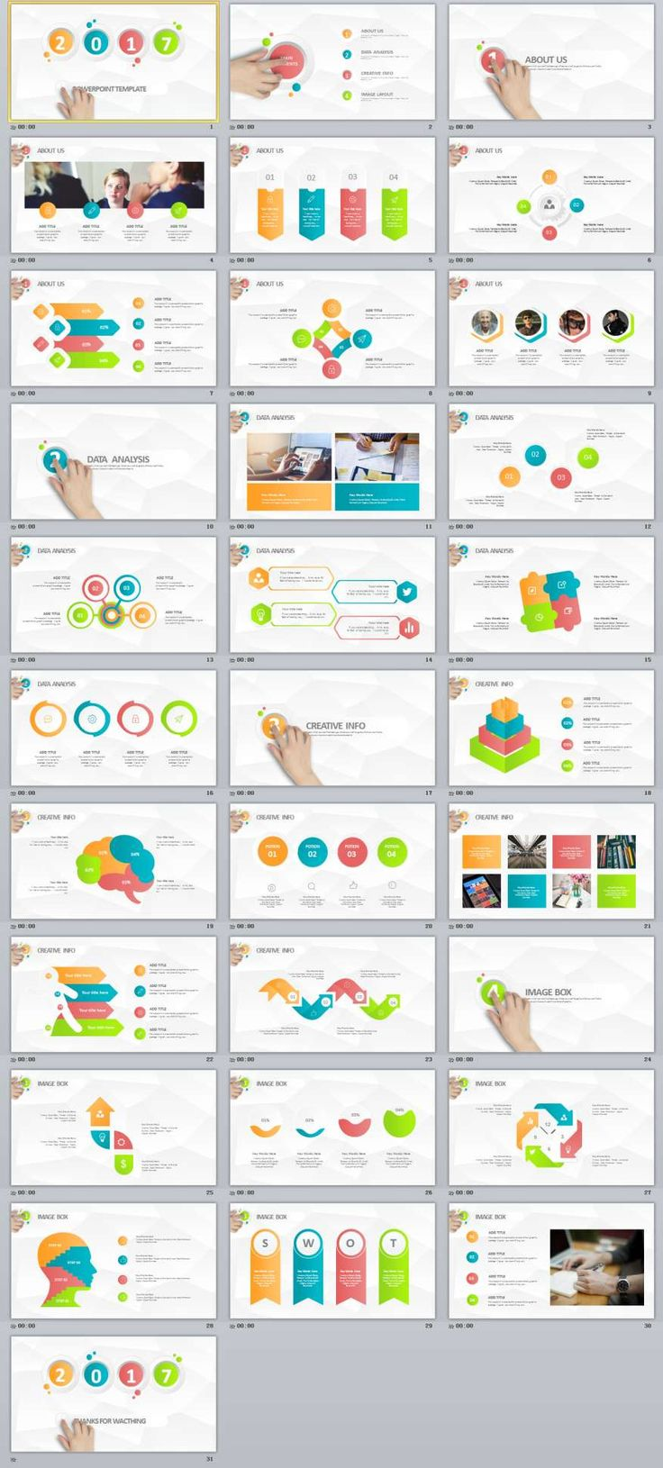 47 best microsoft powerpoint design themes images on pinterest 31 multicolor infographic powerpoint template toneelgroepblik Choice Image