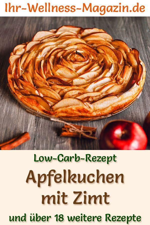 Low Carb Apfelkuchen Mit Zimt Rezept Ohne Zucker Apfelkuchen Mit Zimt Low Carb Rezepte Rezepte