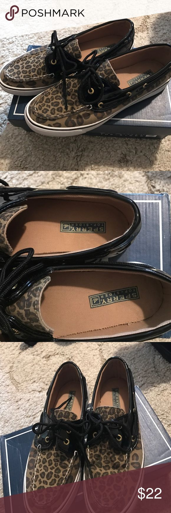 Leopard Sperry top siders Leopard print Sperry Top-siders size 8 great condition Sperry Top-Sider Shoes Flats & Loafers