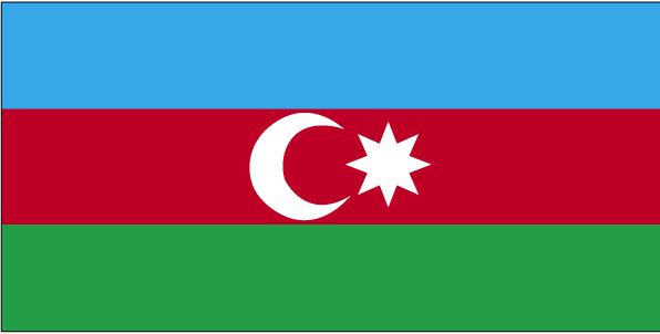 Country Flags: Azerbaijan Flag