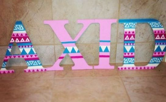 Alpha Xi Delta sorority letters! submitted by: Stephanie Peterson