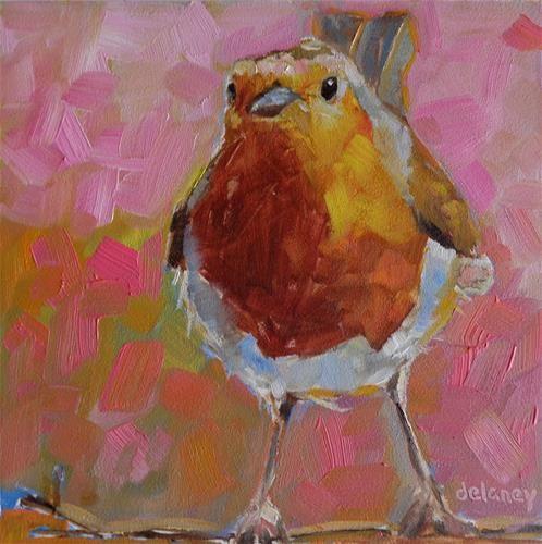 "Daily Paintworks - ""FLIRTY"" - Original Fine Art for Sale - © Jean Delaney"