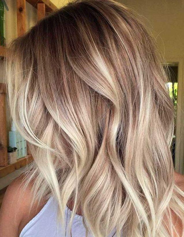 Ombre Hair Beige Coiffure Cheveux Couleur Cheveux