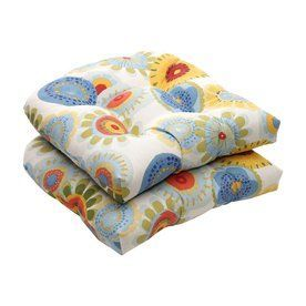 Pillow Perfect Crosby Multicolored Floral Seat Pad For Universal 45047