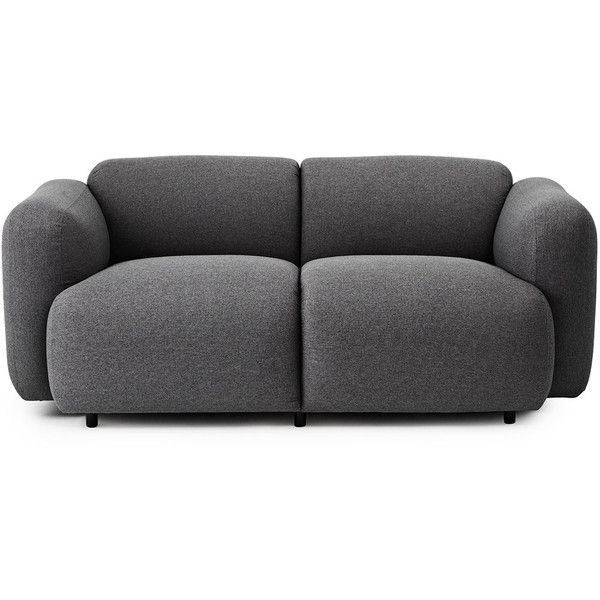 Normann Copenhagen Swell Sofa 2 Seater ($3,110) ❤ liked on Polyvore featuring home, furniture, sofas, sofa, decor, grey, gray furniture, gray couch, two seater couch and grey loveseat
