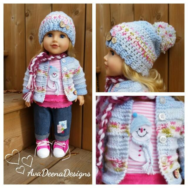 Winter snowman outfit clothes for 18 inch doll american girl doll handmade by AvaDeenaDesigns on Etsy