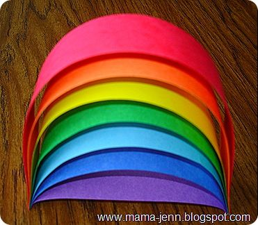 Mama Jenn: Measuring a Rainbow: Teaching Measuring Length, Rainbows Crafts, Rainbows Schools Idea, Kindergarten Math, Sunday Schools, Party Activities, Kids, Paper Strips, Construction Paper