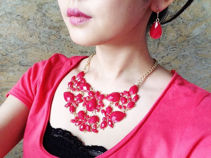 Necklace N01 Red/harga 120rb