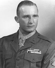 "Valor awards for CWO (then TSgt) Harold Edward ""Speddy"" Wilson (1921-1998) USMC. Medal of Honor for gallantry and intrepidity at the risk of his life above and beyond the call of duty, in action against enemy aggressor forces in Korea on the night of 23-24 April 1951. Harold Wilson served in WW II, Korea, and Vietnam also earning a Bronze Star with ""V"" Device, Purple Heart with four Gold Stars."
