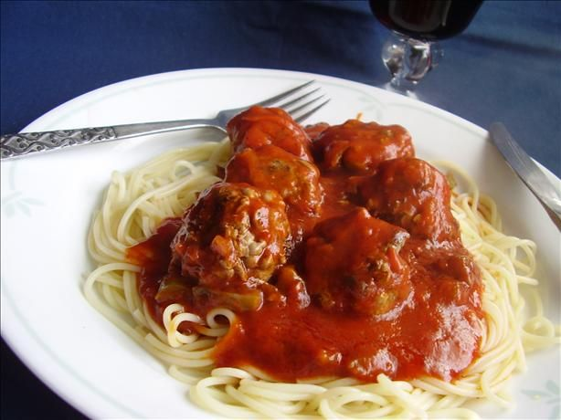 Best Meatballs from Food.com: I was raised in an Italian family and have searched and searched for the perfect recipe for meatballs and finally found it. The secret to this is the red pepper flakes!