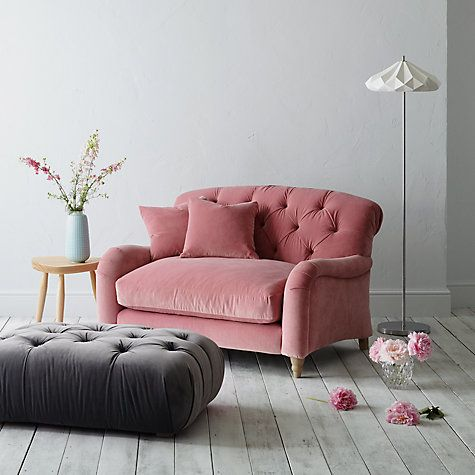 Buy Crumble Snuggler by Loaf at John Lewis in Dusty Rose Clever Velvet, Light Leg Online at johnlewis.com