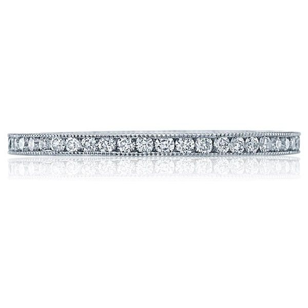 Fresh Tacori Wedding Ring This Tacori diamond wedding band features a single pure row of brilliant channel set diamonds with floating crescent design and