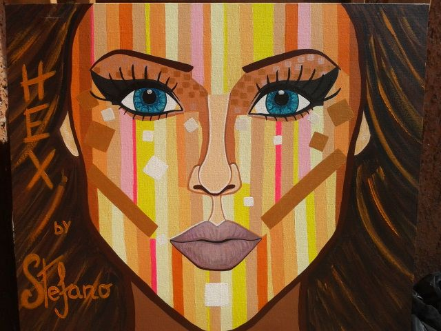 Hex by:STEFANO acrylic on canvas