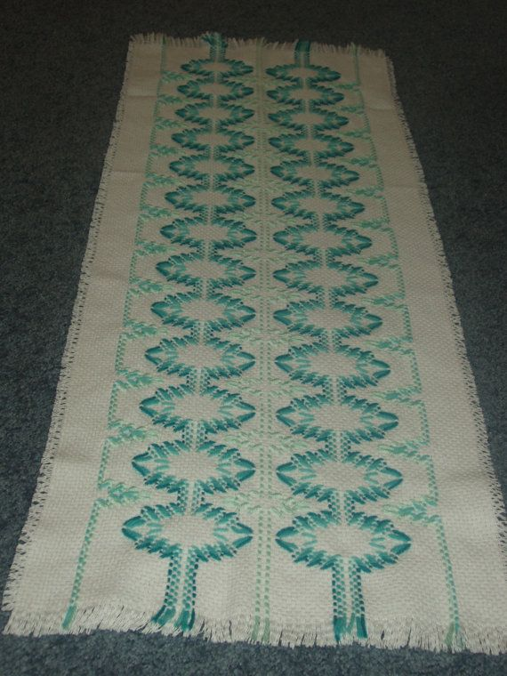 Swedish Weave Table runner by TakesaNeedle on Etsy, $20.00