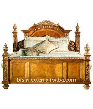Austen cama king, hecho de madera, talladas a mano, moq: 1 unid