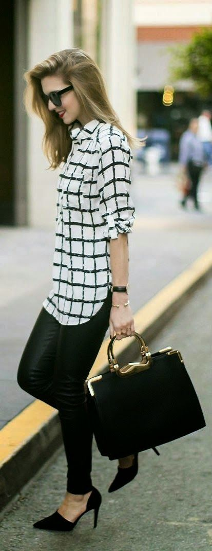 Classic Checked and Leather Outfits