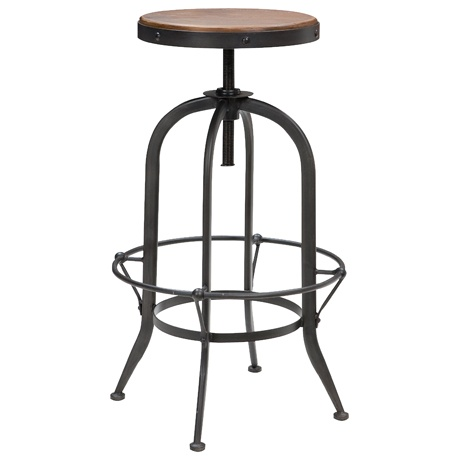 Rustic  draftsman  stool would be a great addition to a bar-style counter in the kitchen.  sc 1 st  Pinterest & 120 best Chairs and sofas images on Pinterest | Chairs For the ... islam-shia.org